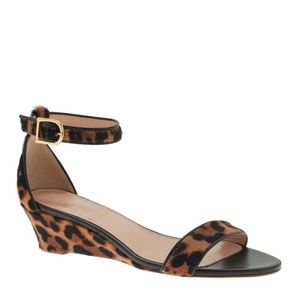 J.Crew Collection Lillian Calf Hair Low Wedge